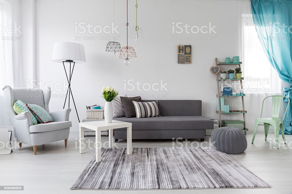 Cosy female room stock photo
