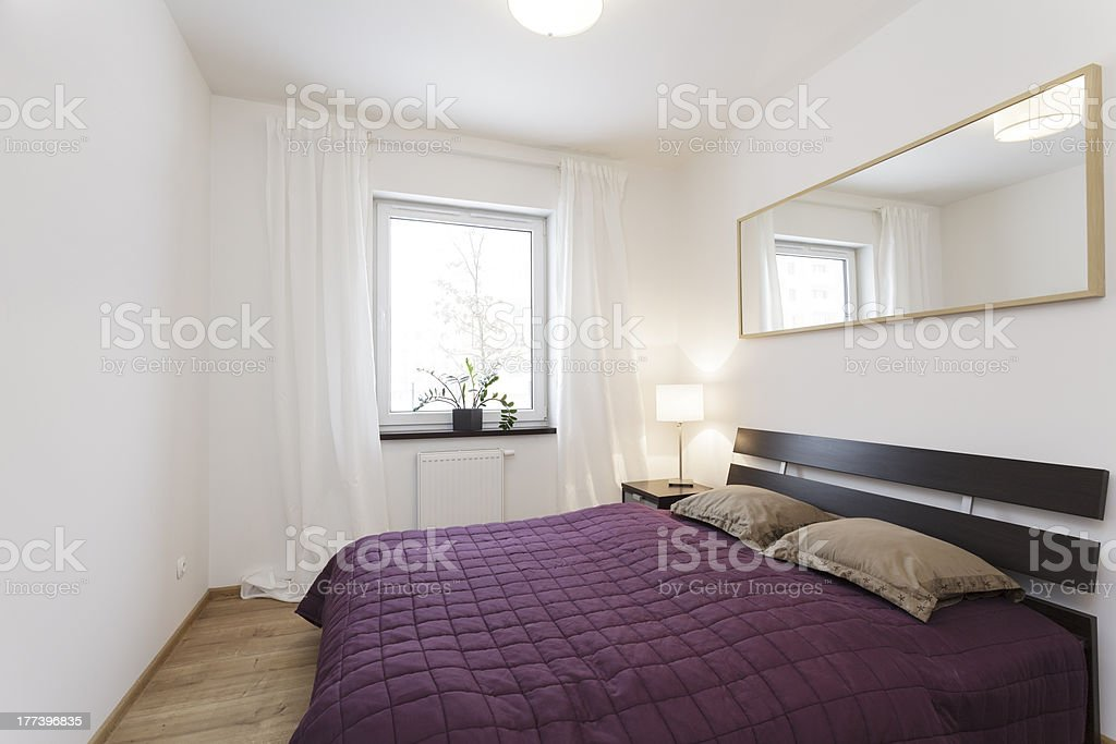 Cosy flat - bedroom royalty-free stock photo