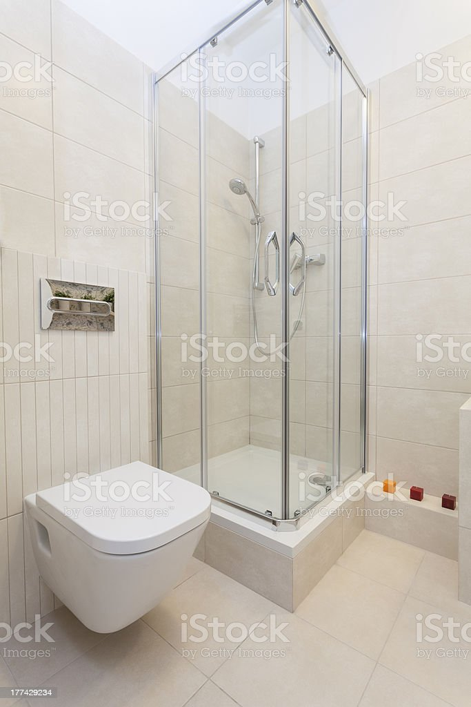 Cosy flat - shower royalty-free stock photo