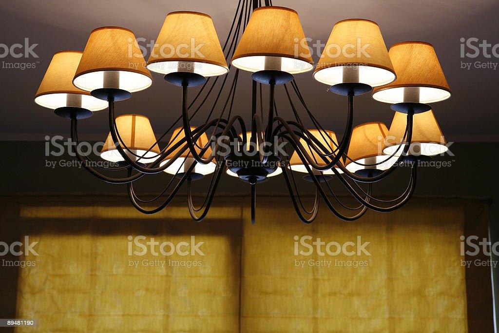 cosy interior close up, lamp royalty-free stock photo