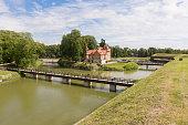 istock Cosy old wooden houses (luxury hotels) near Kuressaare castle. A view of Saaremaa island, Estonia 1263901145