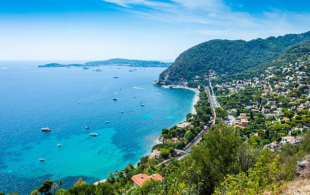 Cote d'Azur Coast in France stock photo