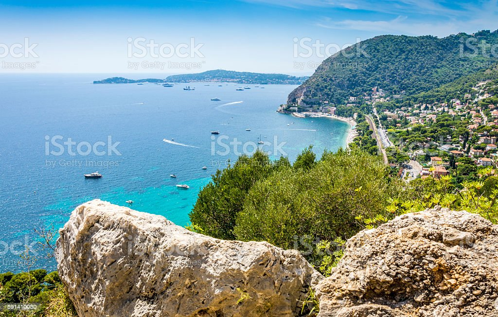 Cote d'Azur Coast in France stock photo