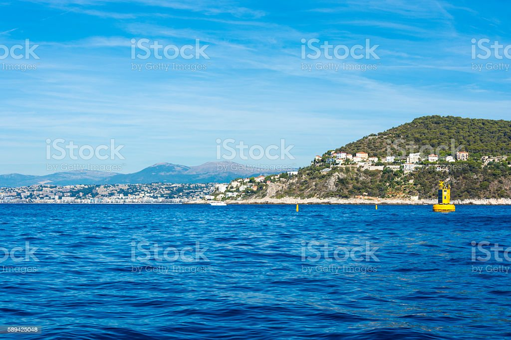 Cote d'Azur in the South of France stock photo