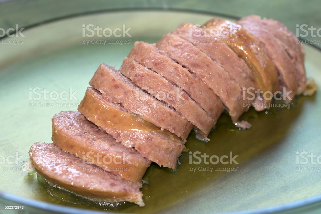cotechino stock photo