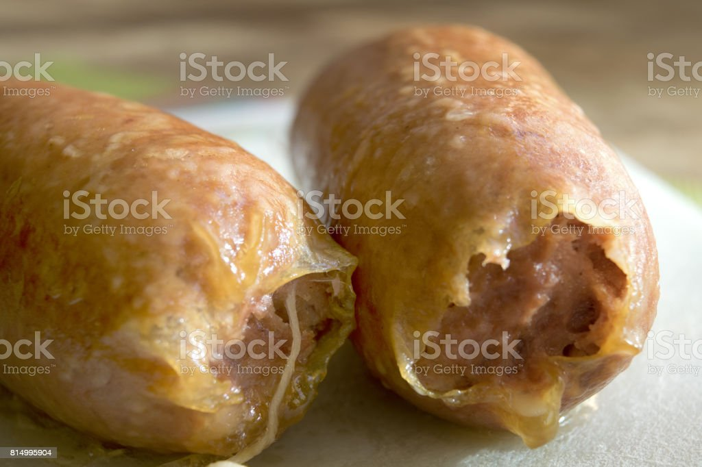 cotechino sausage stock photo