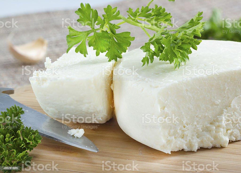 Cotija cheese. stock photo