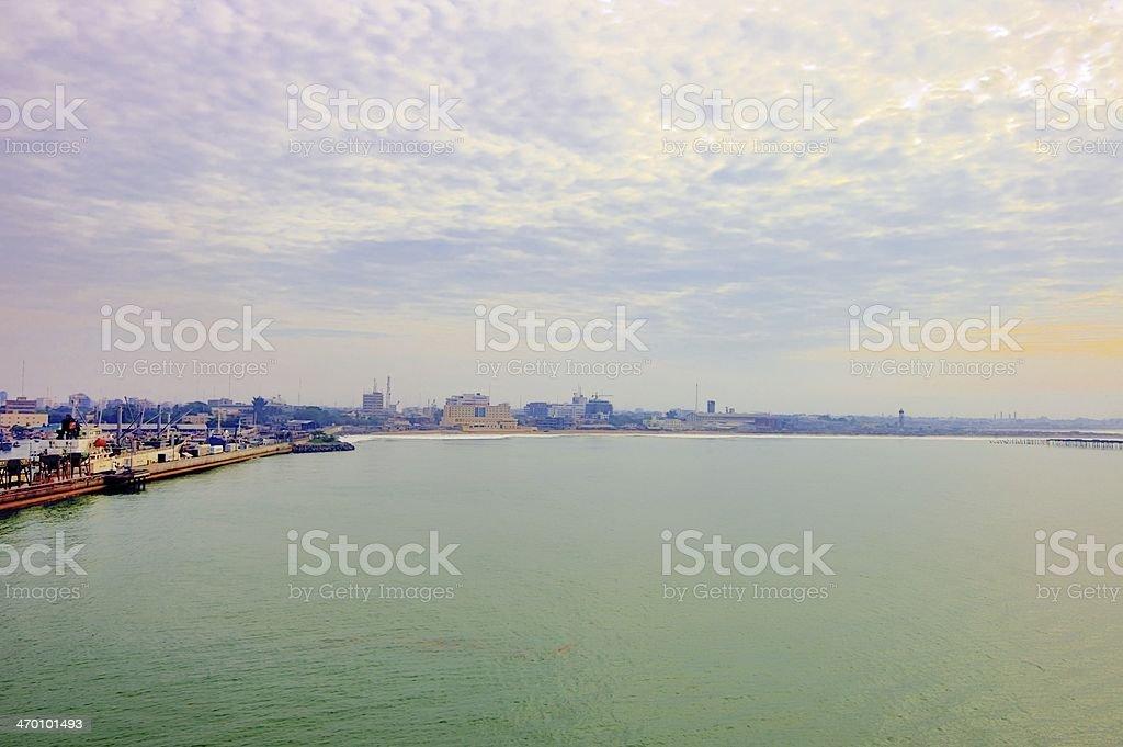 Porto de Cotonou - foto de acervo
