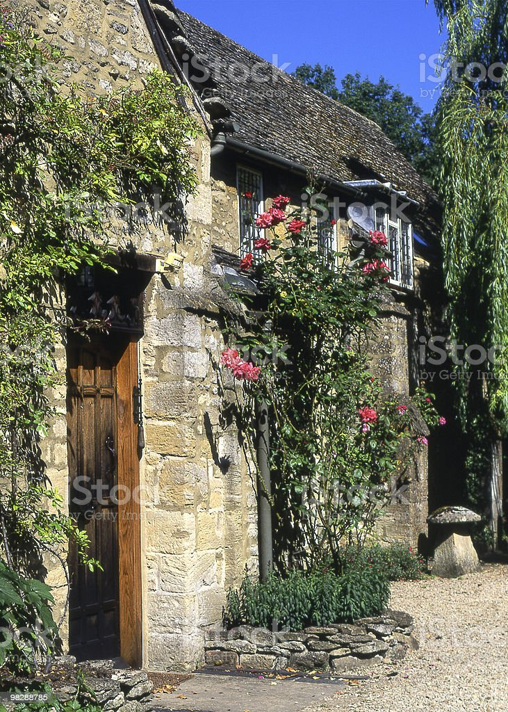 Cotswold cottage at Burford in Oxfordshire. England royalty-free stock photo