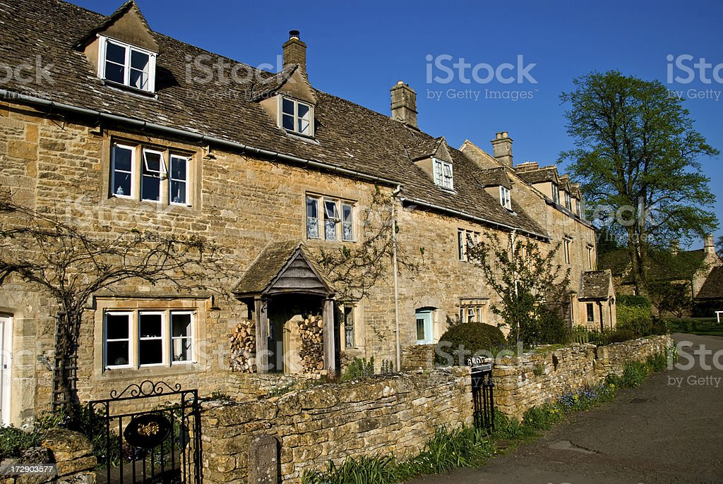 Cotswold Cottages royalty-free stock photo