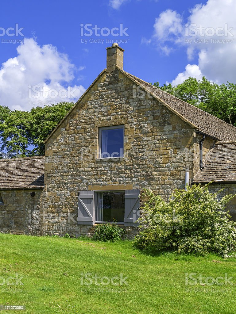 cotswold farmhouse royalty-free stock photo
