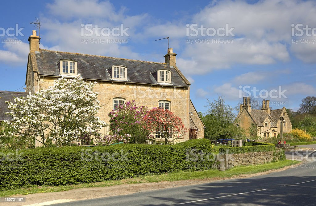 Cotswold farmhouse stock photo