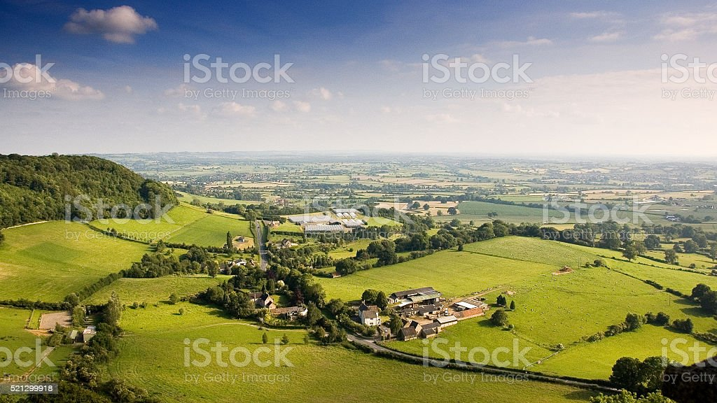 Cotswold Hills and Severn Valley stock photo