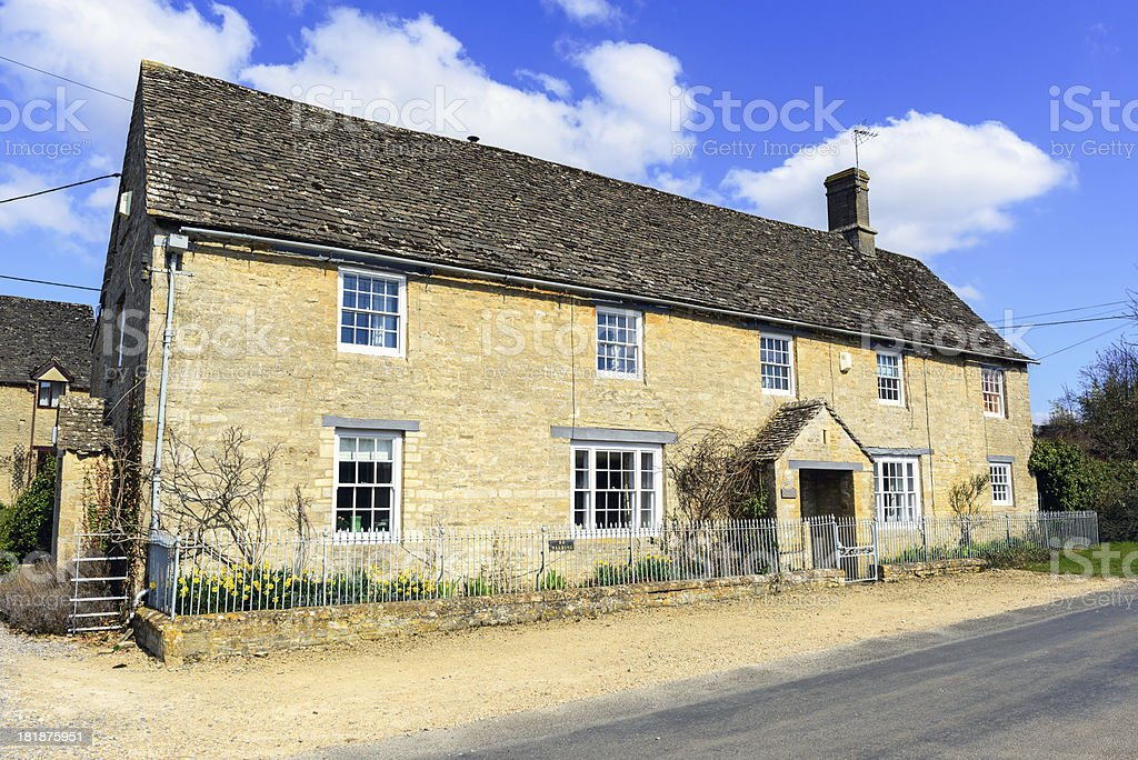 Cotswold House in Minster Lovell, Oxfordshire, England stock photo