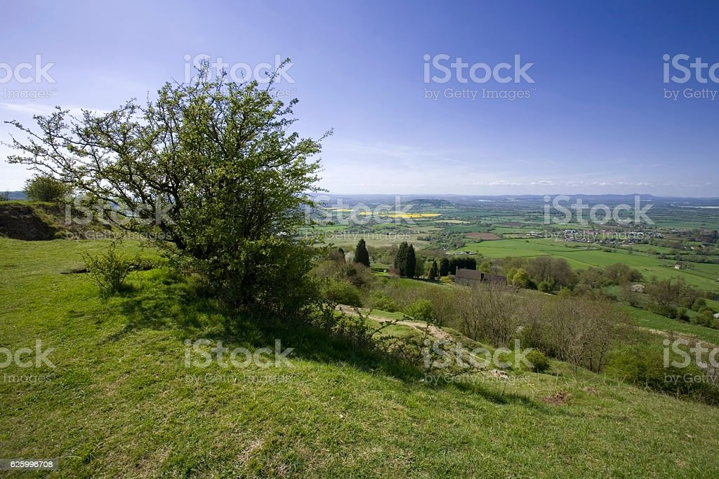cotswold view UK stock photo
