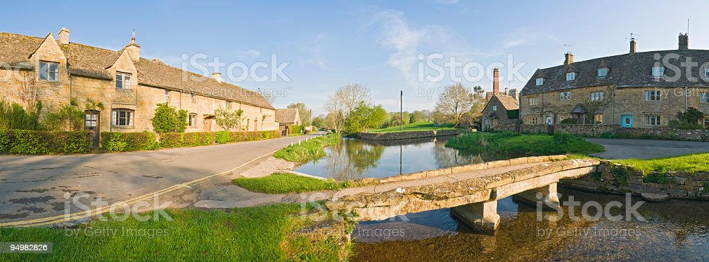 Cotswold village panorama royalty-free stock photo