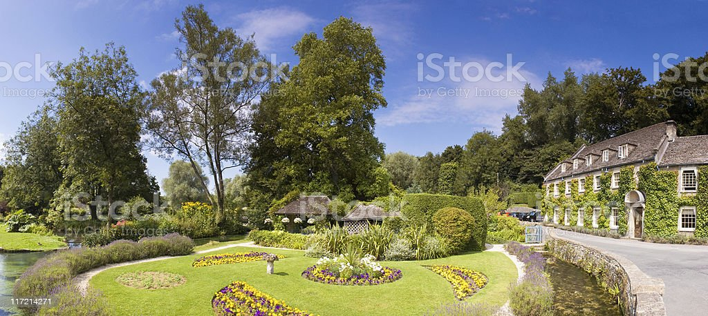 Cotswolds Village green. royalty-free stock photo