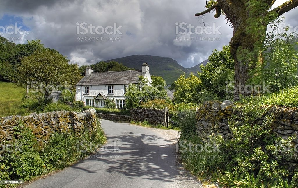 Cottage at Grasmere stock photo