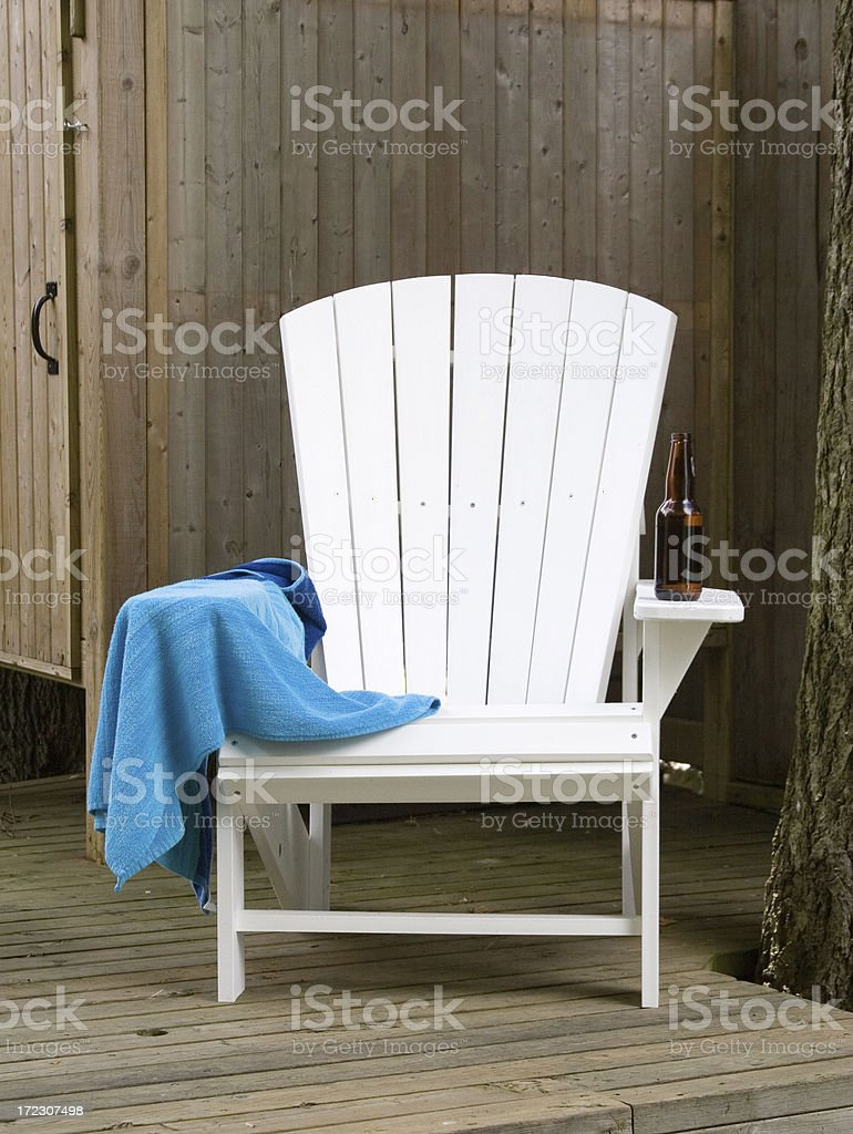 Cottage Chair royalty-free stock photo