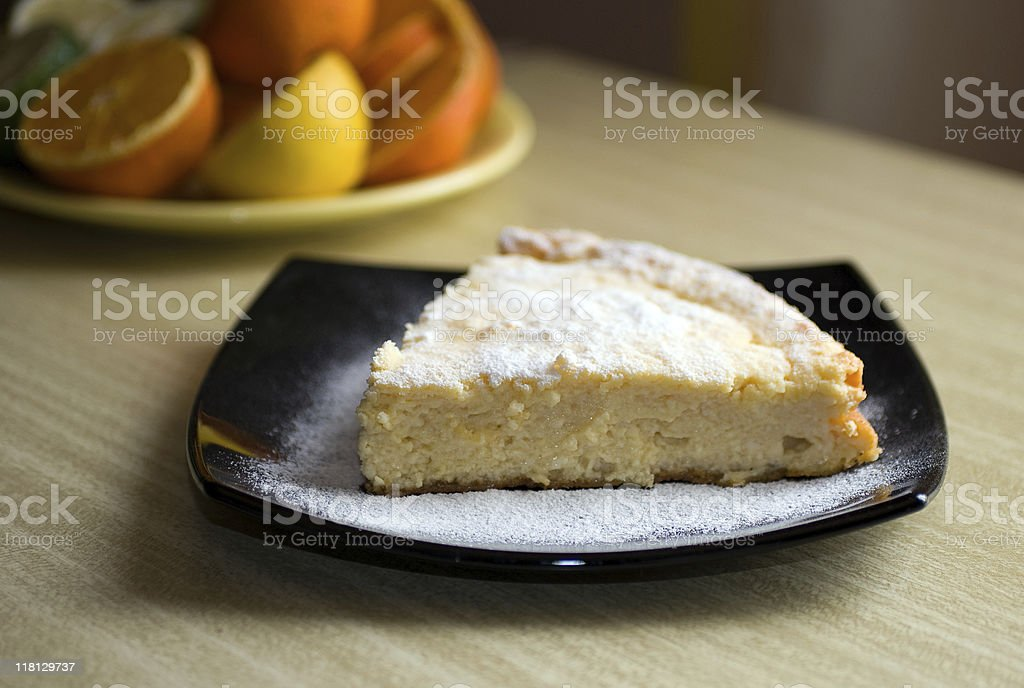Cottage cheese cake royalty-free stock photo