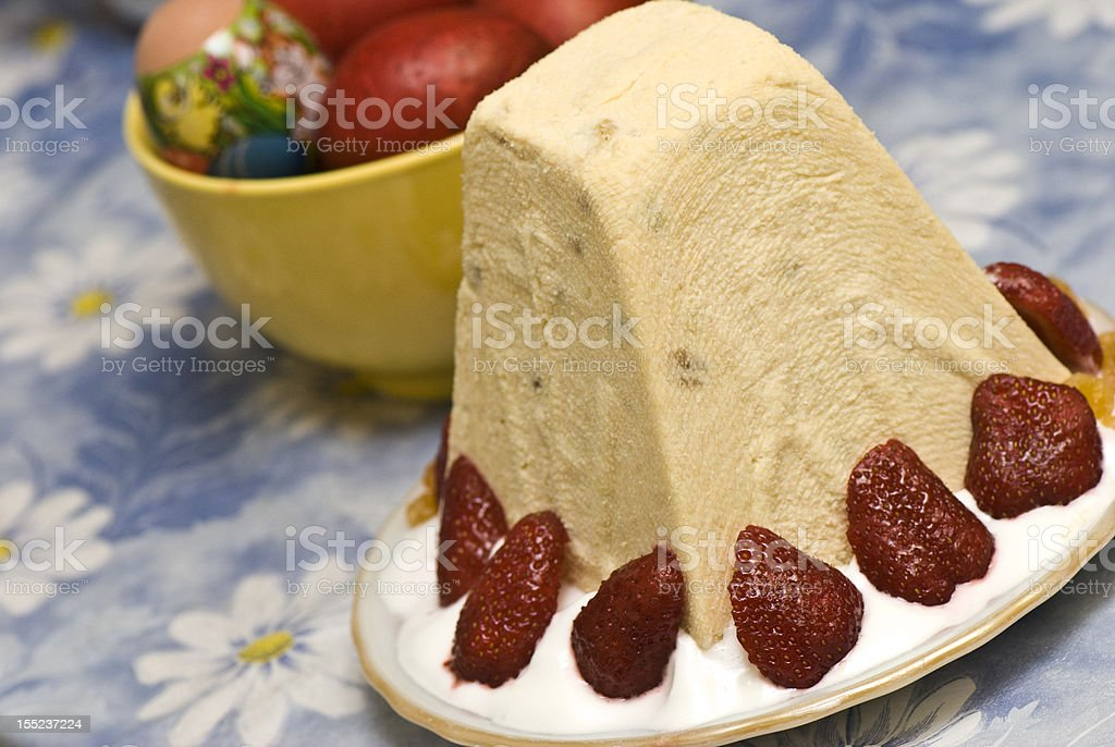Cottage cheese Easter royalty-free stock photo