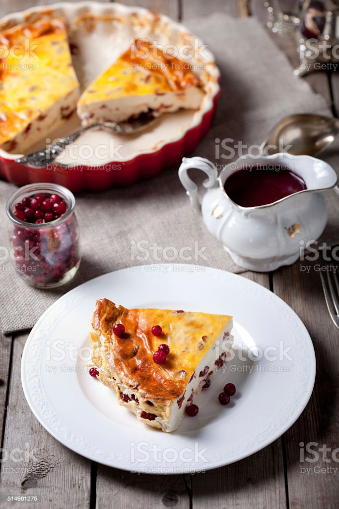 Cool Cottage Cheese Pudding With Cranberry Sauce Stock Photo Download Free Architecture Designs Intelgarnamadebymaigaardcom