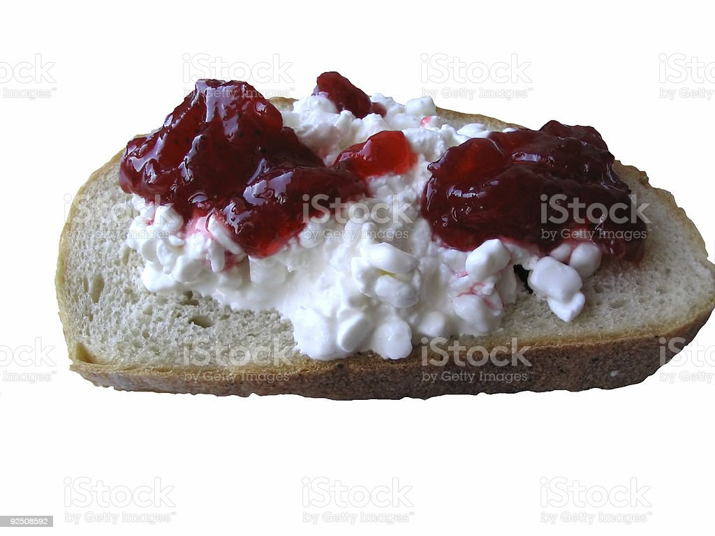 cottage cheese sandwich royalty-free stock photo