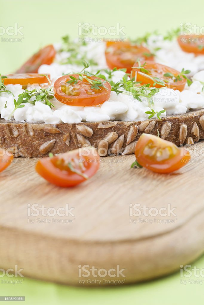 Cottage cheese snacks royalty-free stock photo