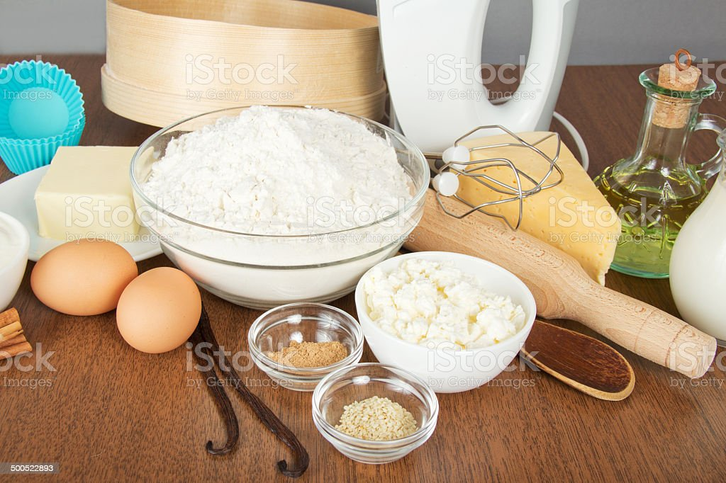 Pleasing Cottage Cheese Spices Butter And Mixer Stock Photo Home Interior And Landscaping Analalmasignezvosmurscom