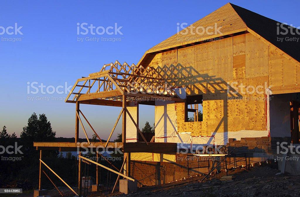 Cottage-Konstruktion Lizenzfreies stock-foto