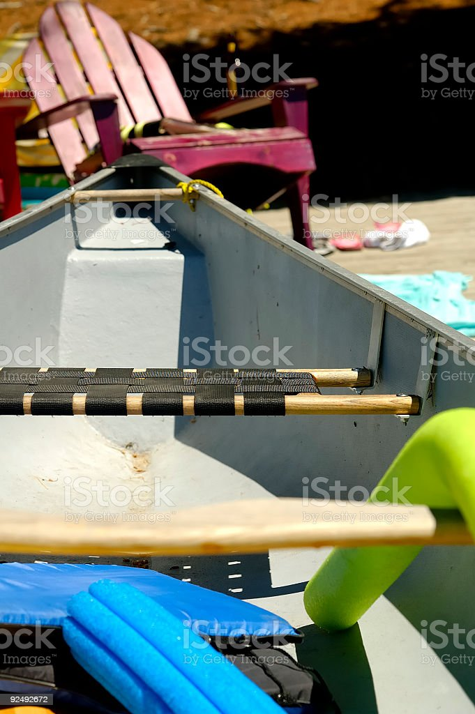 Cottage Deck Items royalty-free stock photo
