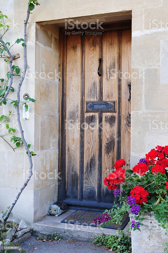 Cottage Front Door royalty-free stock photo