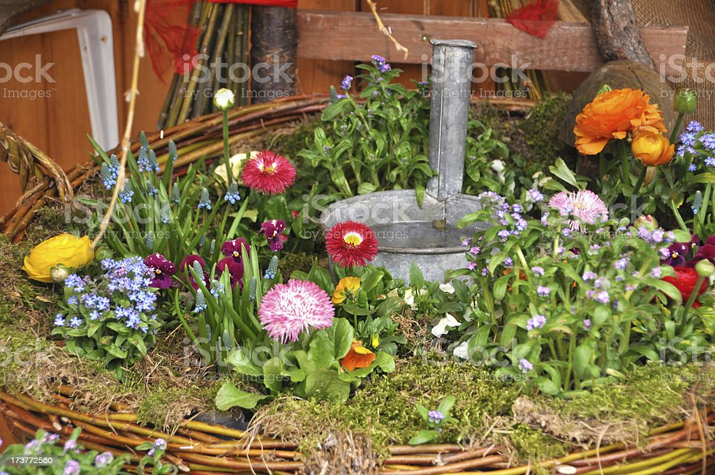 Cottage garden royalty-free stock photo