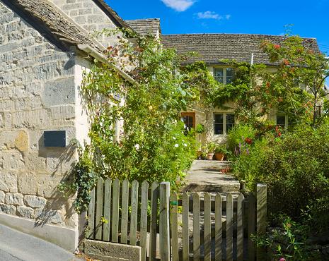 Cottage gate and garden