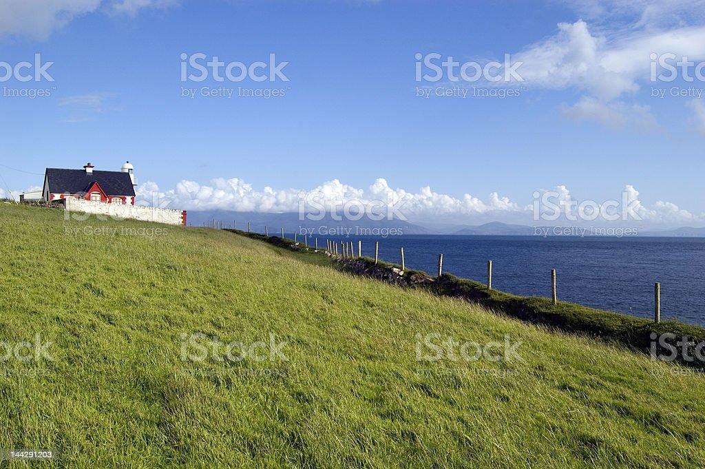 Cottage in Dingle Peninsula. Ireland royalty-free stock photo