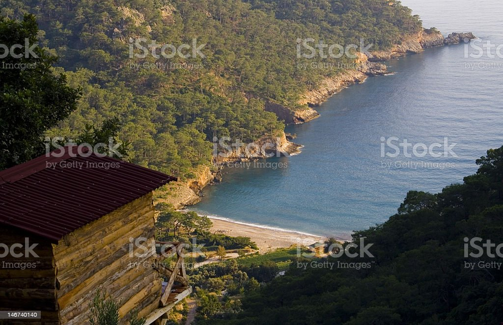 Cottage In Kabak Valley stock photo