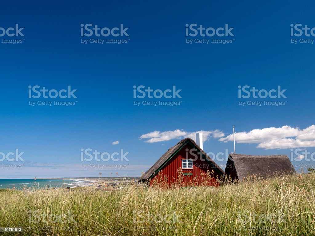 Cottage in Loenstrup, Denmark stock photo