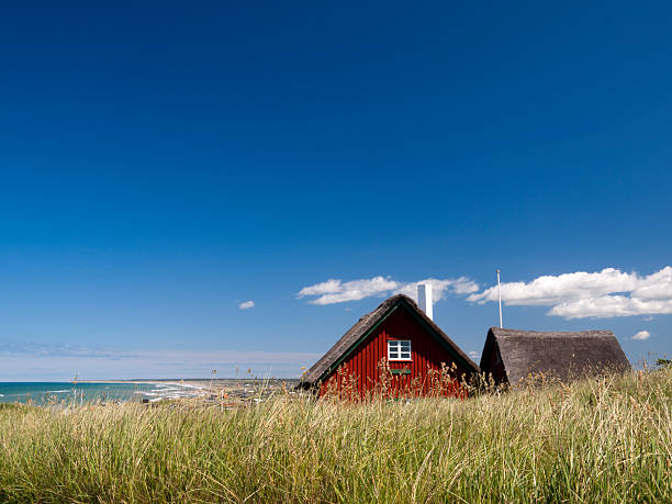 cottage in loenstrup, denmark - denmark stock photos and pictures