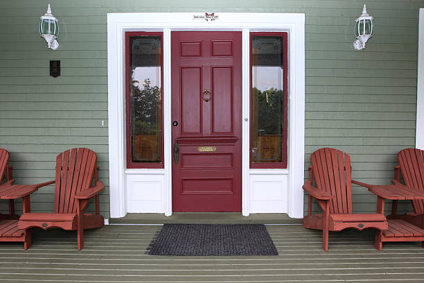 Cottage in Nova Scotia  front door stock pictures, royalty-free photos & images
