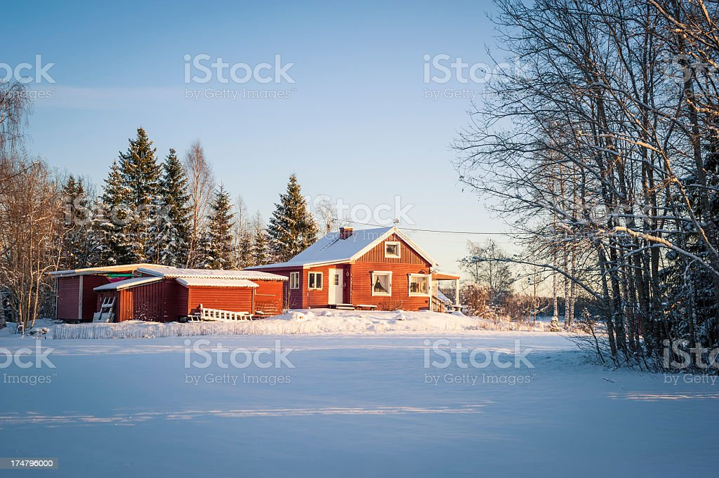 Cottage in Sweden royalty-free stock photo