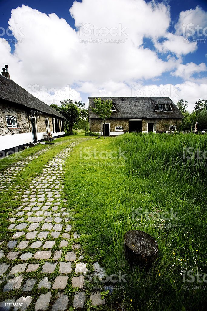 cottage in the country royalty-free stock photo