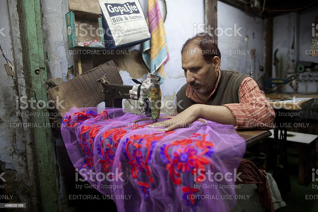 Cottage industry, New Delhi, India royalty-free stock photo
