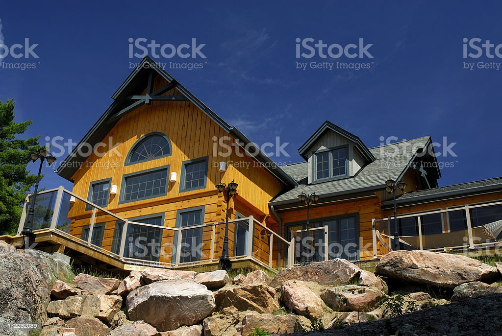 Cottage on the rock royalty-free stock photo