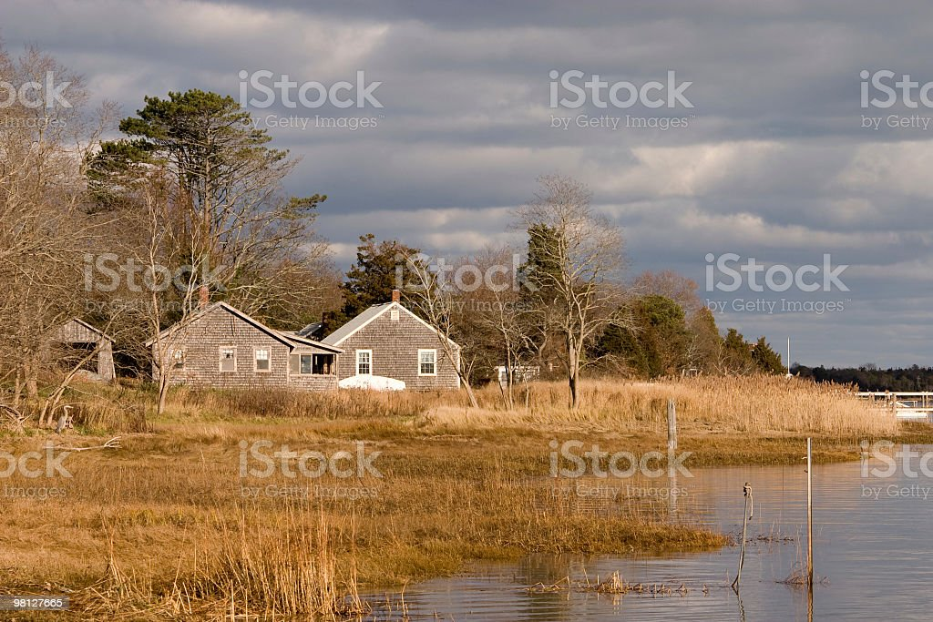 Cottage on Town Cove royalty-free stock photo