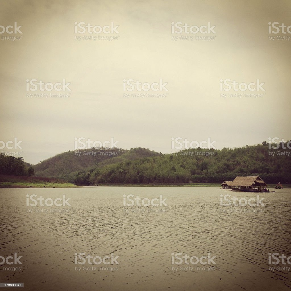 Cottage on water royalty-free stock photo