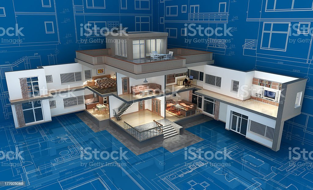 Cottage. royalty-free stock photo