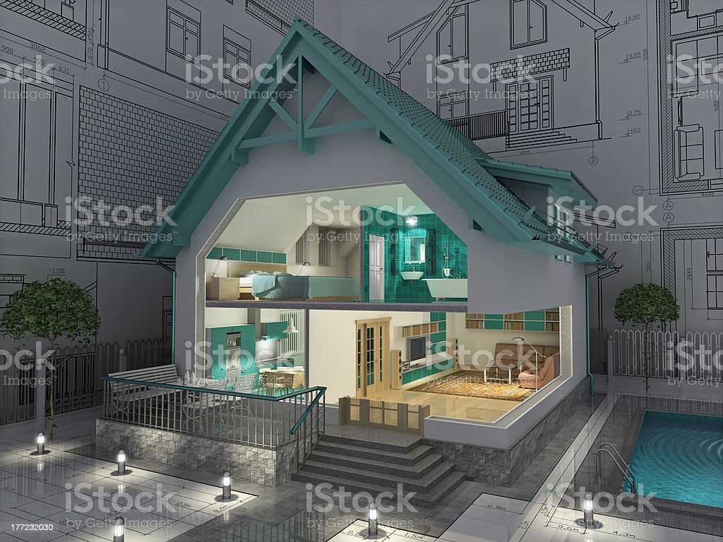 Cottage. stock photo