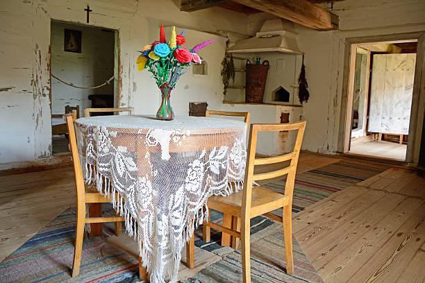 cottage - landhausstil küche stock-fotos und bilder