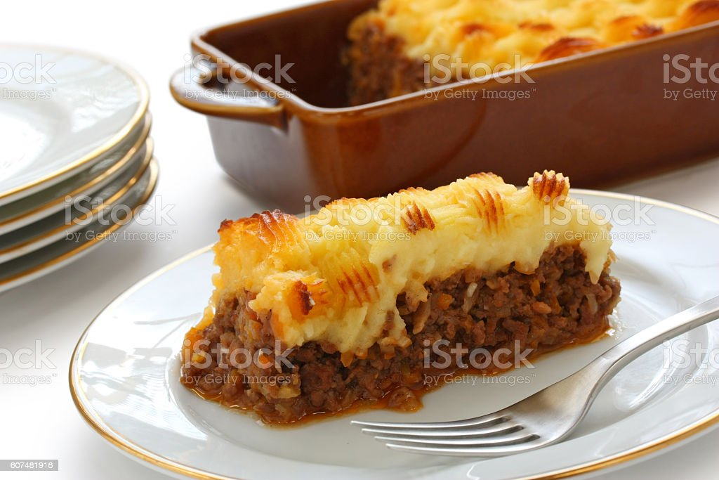 Torta Cottage Shepherds Pie Cucina Inglese - Fotografie stock e ...