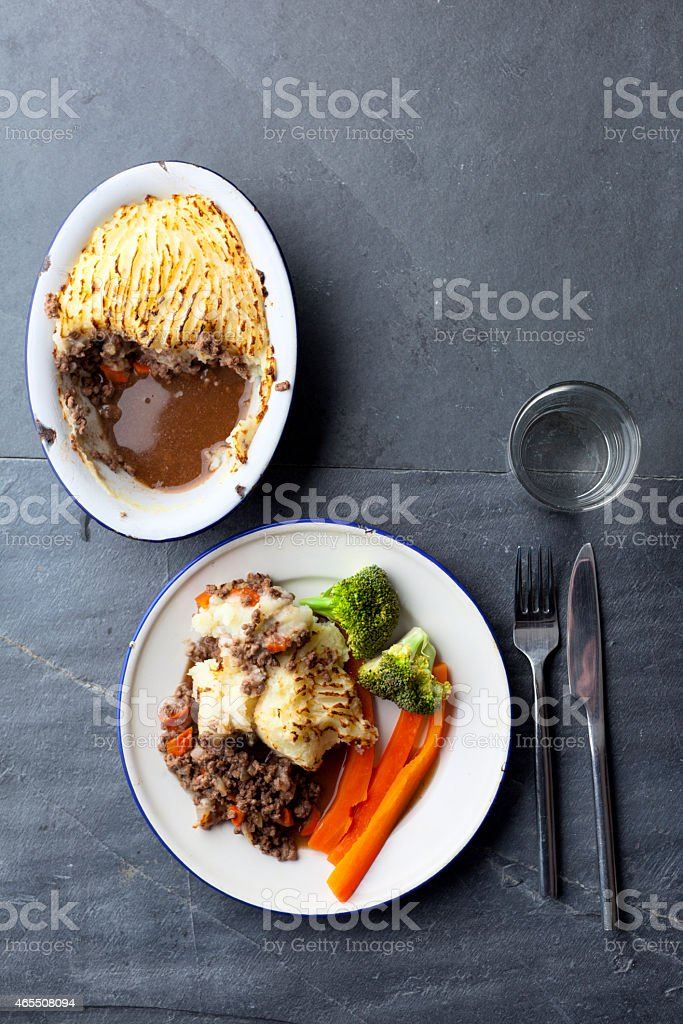 Cottage Pie With Vegetables stock photo